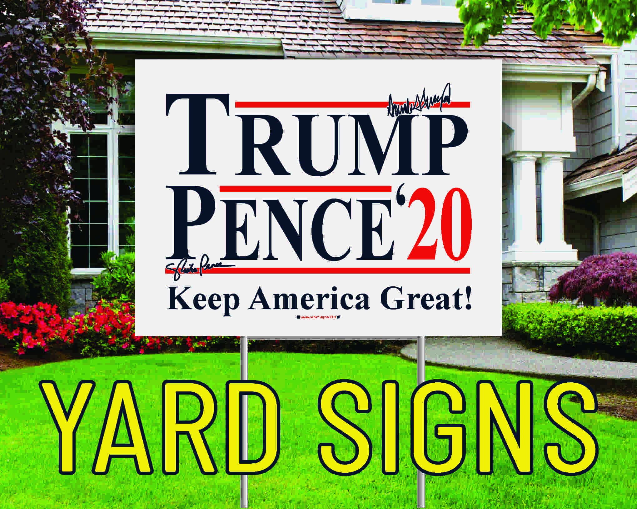 golfball tourniment yard signs cheap